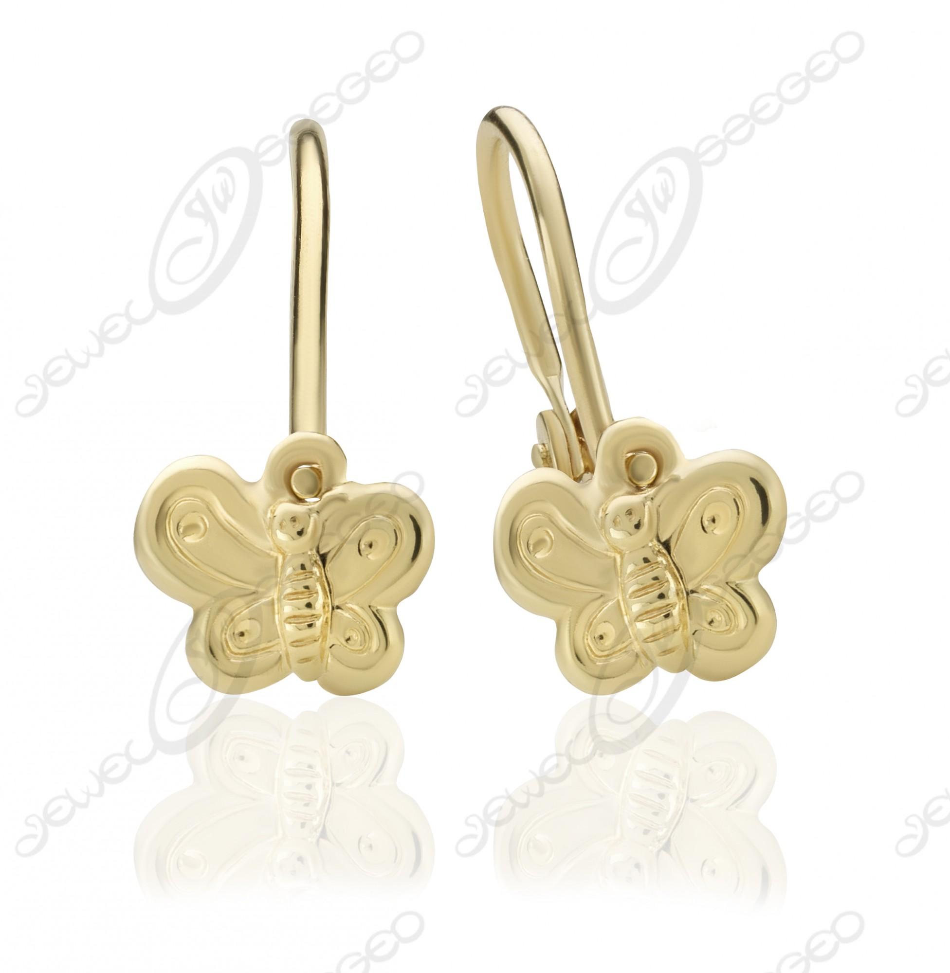 f7b50c2841 Pompás Pillangó fülbevaló aranyból :: Jewel Ékszerkészítő Manufaktúra